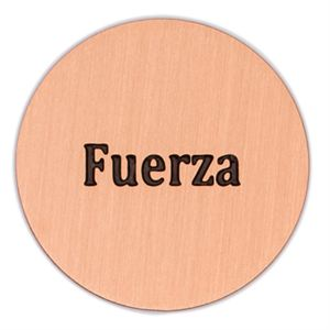 Picture of 'Fuerza' Large Rose Gold Coin