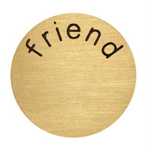 Picture of 'Friend' Medium Gold Coin